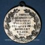 Coins Alsace. Strasbourg. Tournoi de gymnastique du Neudorf. 1901. Médaille laiton nickelé. 33,5 mm