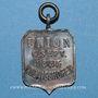 Coins Alsace. Strasbourg. Union Koenigshofen. 1885. Insigne laiton nickelé.18 x 27 mm. Avec son anneau