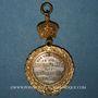 Coins Alsace. Strasbourg. Visite de Guillaume I – Défilé militaire. 1886. Médaille laiton argenté et doré