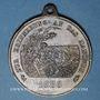 Coins Alsace. Strasbourg. Visite de Guillaume I – Manœuvres. 1886. Médaille laiton. 40,50 mm