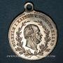 Coins Alsace. Strasbourg. Visite de Guillaume I – Manœuvres. 1886. Médaille laiton argenté et doré