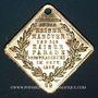Coins Alsace. Strasbourg. Visite de Guillaume I – Manœuvres et défilé militaire 1886. Médaille laiton doré
