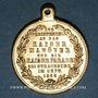 Coins Alsace. Strasbourg. Visite de Guillaume I. Manœuvres et défilé. 1886. Médaille laiton. 28 mm