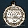 Coins Alsace. Strasbourg. Visite de Guillaume I - Manœuvres et défilé militaire 1886. Médaille laiton arg.