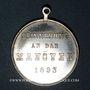 Coins Alsace. Strasbourg. Visite de Guillaume II – Manœuvres. 1893. Médaille laiton argenté. 28,45 mm