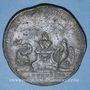 Coins Alsace. Strasbourg. Visite de Marie-Antoinette. 1770. Médaille étain. 50 mm. Gravée par J. D. Kamm