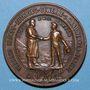Coins Alsace. Wissembourg. Exposition d'apprentissage. 1903. Médaille bronze. 42,5 mm