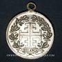 Coins Bühl. 2e tournoi de gymnastique des associations de la jeunesse catholique.1899. Médaille laiton arg