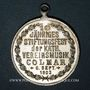 Coins Colmar. 10e anniversaire du Cercle catholique de musique de Colmar. 1903. Médaille laiton argenté