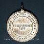 Coins Colmar. 1ère course de vélocipèdes. 1888. Etain. 30,81 mm, avec son œillet