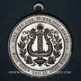 Coins Colmar. 2e congrès des chorales d'Alsace-Lorraine. 1894. Médaille aluminium