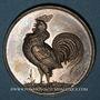 Coins Colmar. (Exposition avicole). 1885. Médaille argent. 39,2 mm. Gravée par W. Mayer de Stuttgart