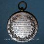 Coins Colmar. Société de tir – 25e ann. de la présidence du vicomte Paul de Bussierre. 1857-92. Cuivre