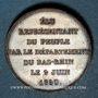 Coins Emile de Girardin, député du Bas-Rhin. 1850. Cuivre. 25,13 mm. Gravée par Borrel.