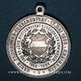 Coins Ensisheim. Fête des pompiers et 80e anniversaire des pompiers d'Ensisheim. 1908. Aluminium. 33,70 mm