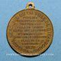 Coins Guerre de 1870 – Les Corps Francs de Strasbourg. Médaille cuivre jaune. 27,88 mm