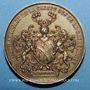 Coins Guerre de 1870 - Le bombardement de Strasbourg. Médaille cuivre jaune. 40 mm