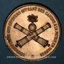 Coins Guerre de 1870 - Souscription pour l'achat de canons pendant le siège de Paris. Médaille bronze