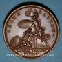 Coins Haguenau. Levée du Siège d'Haguenau. 1675. Médaille cuivre. Frappe postérieure (sans poinçon)