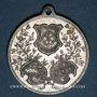 Coins Molsheim. 5e tournoi de gymnastique des associations d'Alsace et de Lorraine. 1900. Médaille alu.