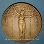 Coins Mulhouse. 100e anniversaire de la création du corps des sapeurs pompiers. 1825-1925. Médaille bronze