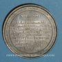 Coins Mulhouse. Consécration de la nouvelle église catholique. 1860. Etain. 50,15 mm.