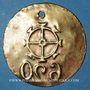 Coins Mulhouse. Médaille justifiant le paiement de la taxe pour chiens. Bronze. 30,9 mm