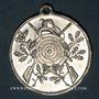 Coins Mulhouse. Souvenir de l'inauguration du stand de tir. 1904. Aluminium. 30,79 mm, avec son œillet.