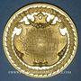 Coins Strasbourg. 1ère fête des chanteurs d'Alsace-Lorraine. 1891. Médaille bronze doré. 54 ,11 mm