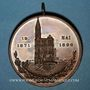 Coins Strasbourg. 25e anniversaire du 15e régiment d'artillerie. 1896. Bronze. 40,3 mm