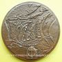 Coins Strasbourg. 25e anniversaire du Port autonome de Strasbourg. 1926-1951. Médaille bronze. H. Dropsy