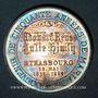 Coins Strasbourg. 50e anniversaire du mariage d'Edouard Reuss avec Lucie Himly. 1839-1889. Argent. 30,42 m