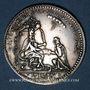 Coins Strasbourg. Centenaire de la fondation de l'Académie. 1667. Argent 34,40 mm