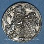 Coins Strasbourg. Concours de tir 1590. Médaille argent. 20,08 mm. Coulée