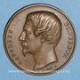 Coins Strasbourg. Concours régional d'Agriculture. Produits agricoles. 1859. Médaille bronze