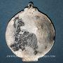 Coins Strasbourg. Congrès catholique. 1905. Médaille étain argenté. Avec anneau