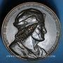 Coins Strasbourg. Erwin de Steinbach. 1834. Médaille bronze. 45 mm. Gravée par Kirstein et Emmerich.