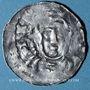 Coins Strasbourg. Evêché. Conrad II (1027-39) ou Henri III (1039-56). Denier à la Vierge et à l'empereur