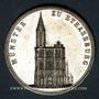 Coins Strasbourg. Exposition agricole. 1890.  Laiton argenté. 28 mm, avec son oeillet