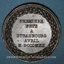 Coins Strasbourg. Fête musicale. 1830. Cuivre. 41 mm. Gravée par Kirstein