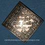 Coins Strasbourg. Fête séculaire de la Paix d'Augsbourg, 1655. Klippe argent. 20,65 x 21,69 mm