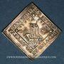 Coins Strasbourg. Fête séculaire de la Paix d'Augsbourg, 1655. Klippe argent. 22 x 22,4 mm