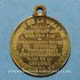 Coins Strasbourg. Guerre de 1870 - Jules Favre. Laiton. 23,9 mm, avec son œillet