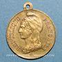 Coins Strasbourg. Guerre de 1870 - Les Corps Francs. Médaille laiton. 23,9 mm, avec son œillet