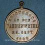 Coins Strasbourg. Harmonie de la Robertsau - Bénédiction du drapeau. 1888. Laiton. 28,5 mm.