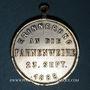 Coins Strasbourg. Harmonie de la Robertsau - Bénédiction du drapeau. 1888. Laiton argenté (présence argent