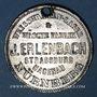 Coins Strasbourg. J. L. Erlenbach (lingerie, confection). Médaille. Zinc nickelé, avec son oeillet