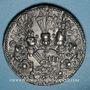 Coins Strasbourg. Jean de Manderscheid, évêque de Strasbourg (1569-1592). 1569. Médaille plomb. 34,7 mm