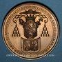 Coins Strasbourg. Jubilé sacerdotal de Mgr. André Raess, évêque de Strasbourg. 1866. Bronze. 36,82 mm