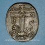 Coins Strasbourg. Léopold Guillaume, évêque de Strasbourg (1625-62). Bronze coulé. Ovale, 35,25 x 43,26mm